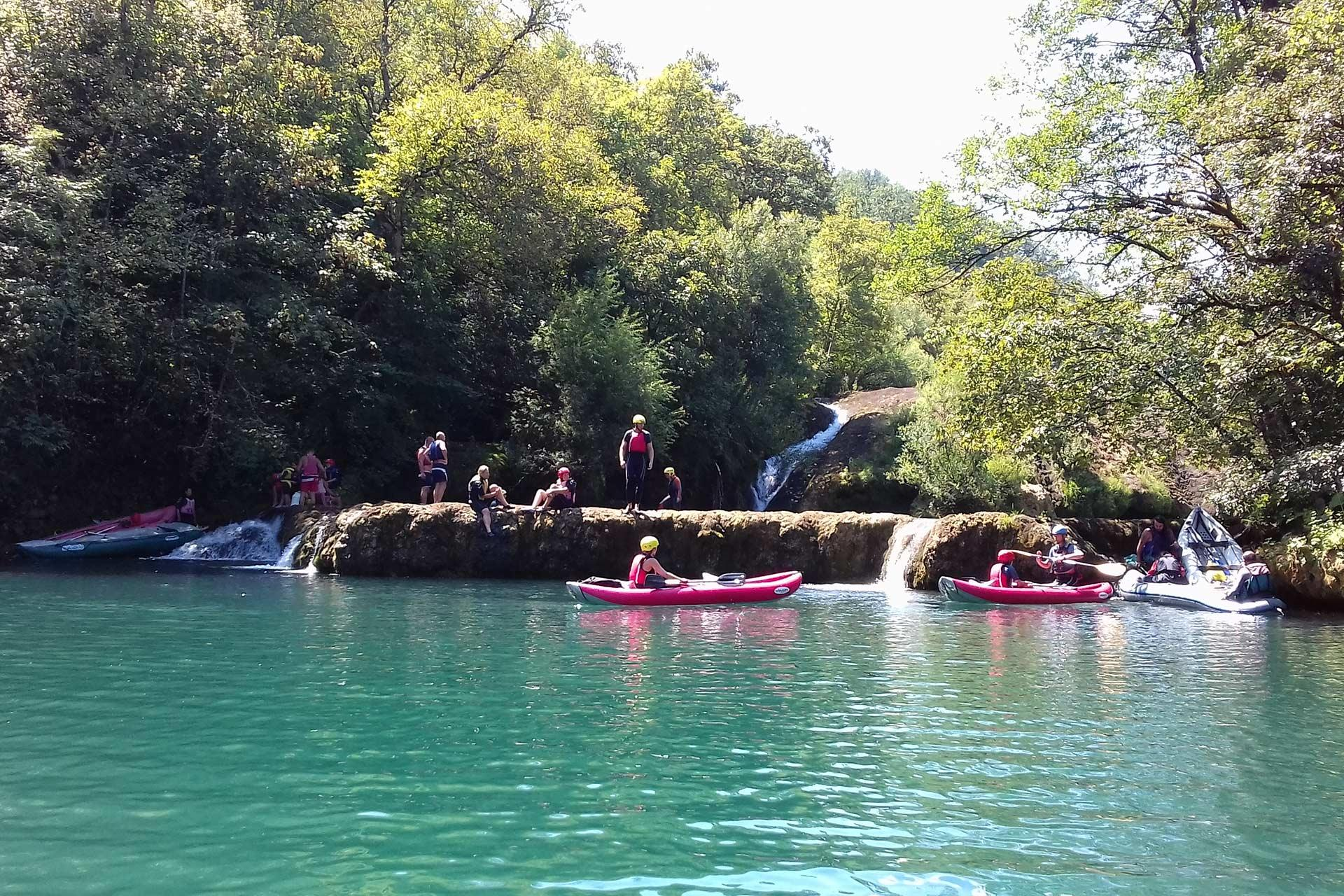 A two day kayaking adventure on the river Mreznica